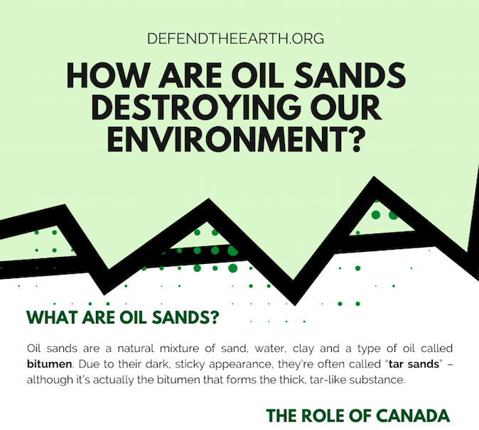 HOW ARE OIL SANDS DESTROYING OUR ENVIRONMENT? Infographic